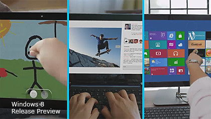 Windows 8 Release Preview is available for download now.