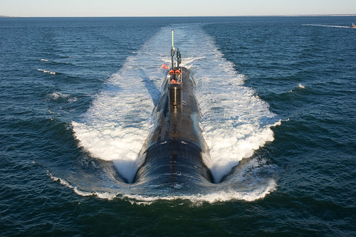 Submarine conducts alpha trials in the Atlantic Ocean [Image 1 of 9]
