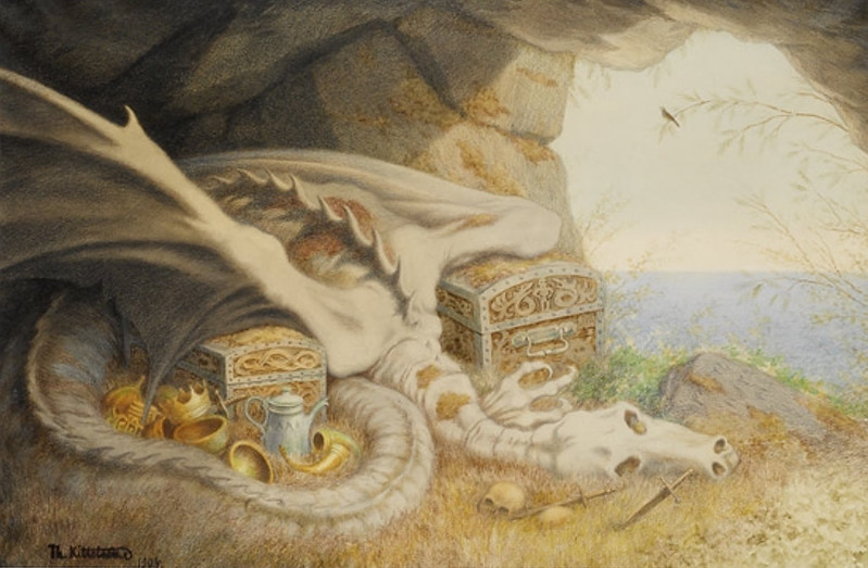 Theodor Kittelsen - Dragon 1904