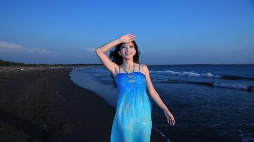 無料写真素材, 人物, 女性  アジア, 人物  海, ワンピース・ドレス, 台湾人