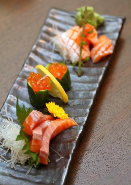 Akari餐厅和酒吧:三文鱼zukushi