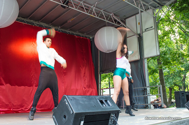 Dancers at NYC Howl Festival in East Village