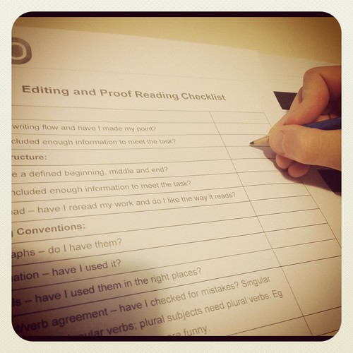 Proof Reading and Editing Checklist