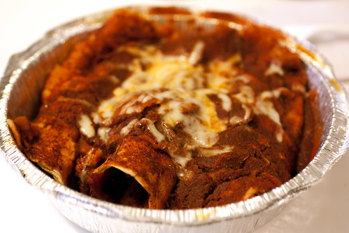 enchiladas in guajillo sauce @ downtown bakery