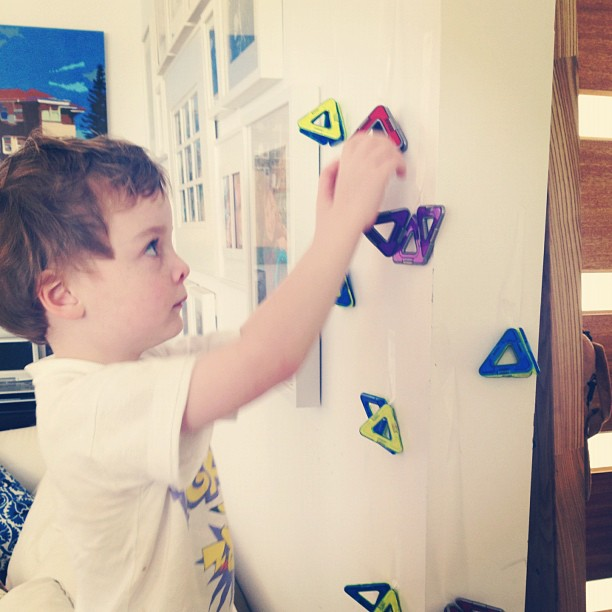 My little installation artist.