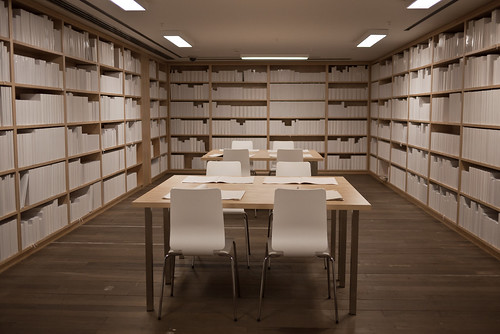 The white library at Mona