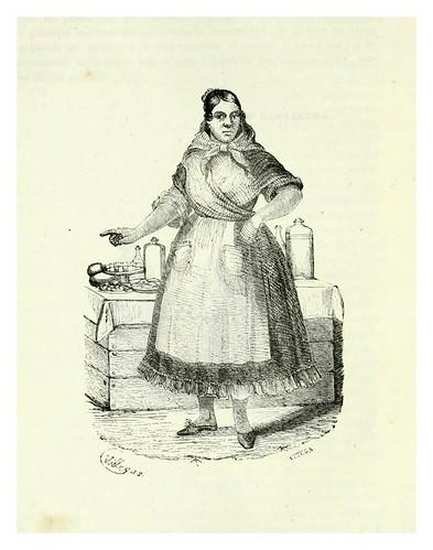 013-La cantinera-Los españoles pintados por si mismos-Tomo I-1843- Editado por Ignacio Boix