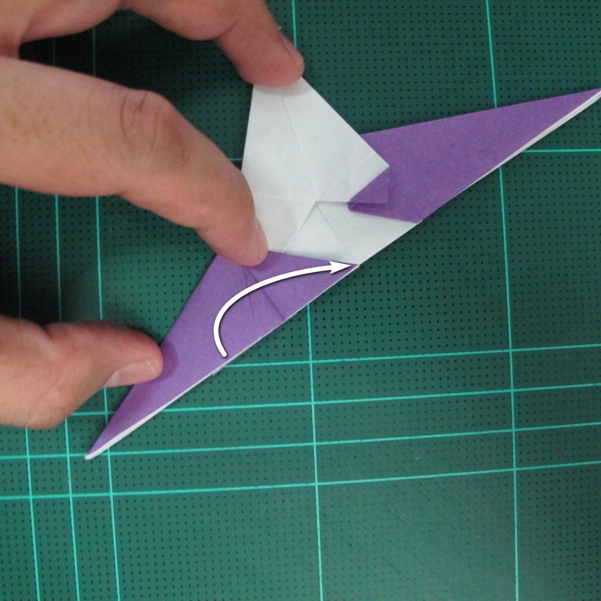วิธีพับกระดาษเป็นรูปนกอินทรี (Origami Eagle) 020