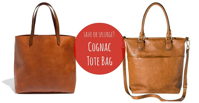 cognac tote bag for less Madewell and Target