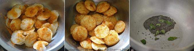 How to make podi idli - Step1
