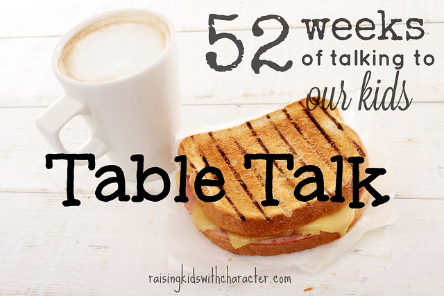 52 weeks of talking to our kids table talk character ink for 52 week table