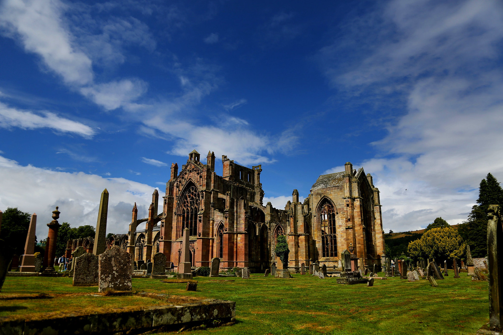 Melrose Abbey, Scotland. Credit Edwinrijkaart