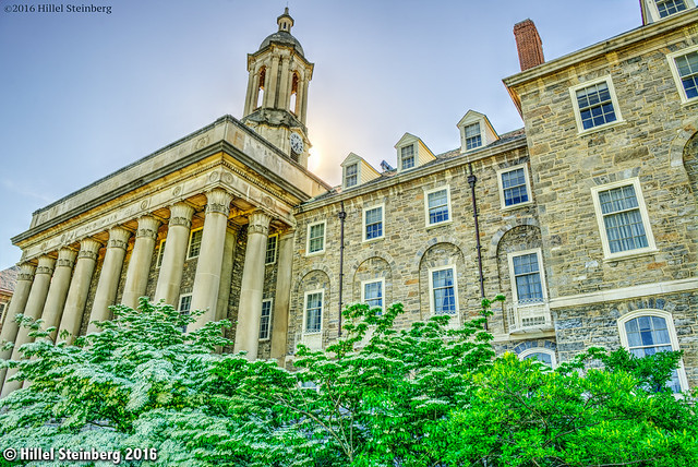 HDR: Old Main Administrative Center at Penn State, Spring 2016. from Flickr via Wylio