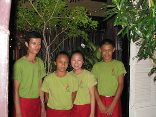 Servers at Makphet Restaurant