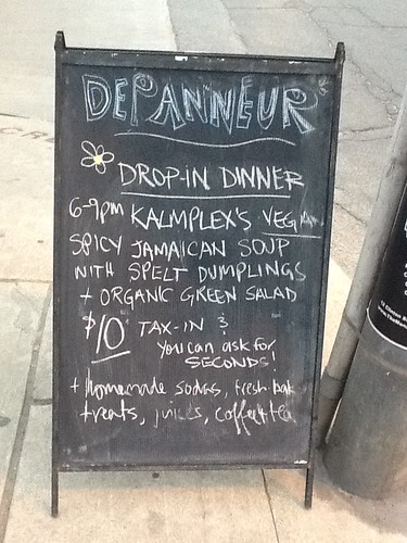 The Vegan Drop-in Dinner at the Depanneur