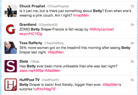 Tweets about Fat Betty Draper