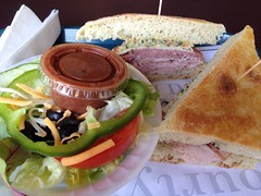 Muffuletta and salad