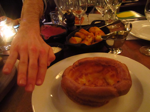 Huge Yorkshire Pudding at Too Many Critics 2012