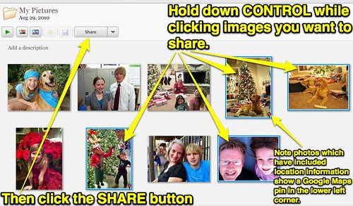 Select Desired Photos in Picasa