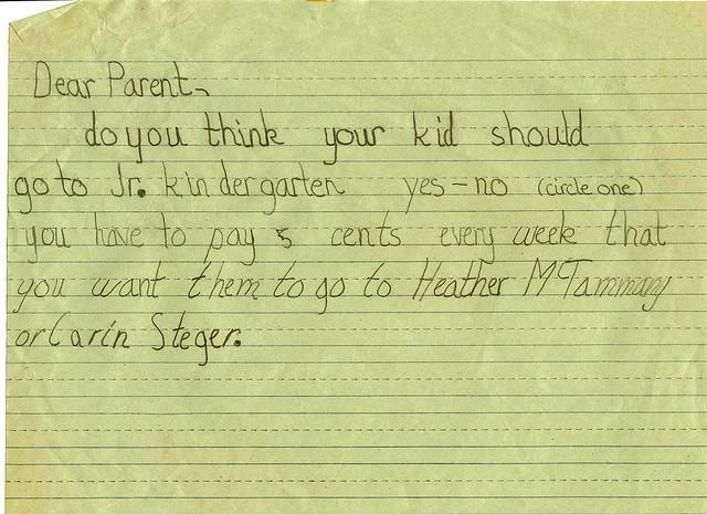 jr kindergarten 1