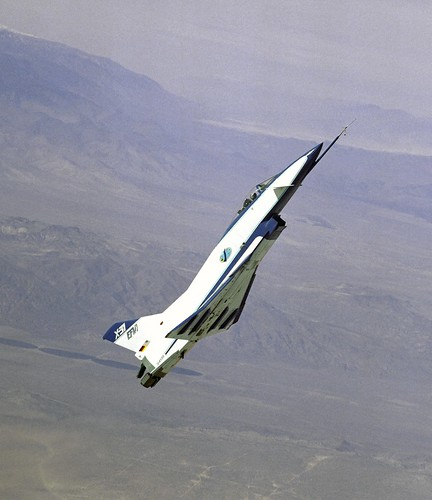 NASA photo -- X-31A high angle of attack flight test photo