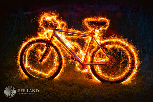 Day 115-366 Burning Bike