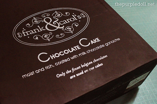 Frank&Carols Milk Chocolate Cake Box