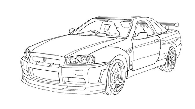 nissan r33 gtr coloring pages - photo#36