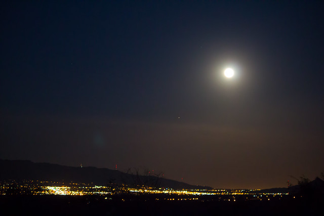 Supermoon over El Paso