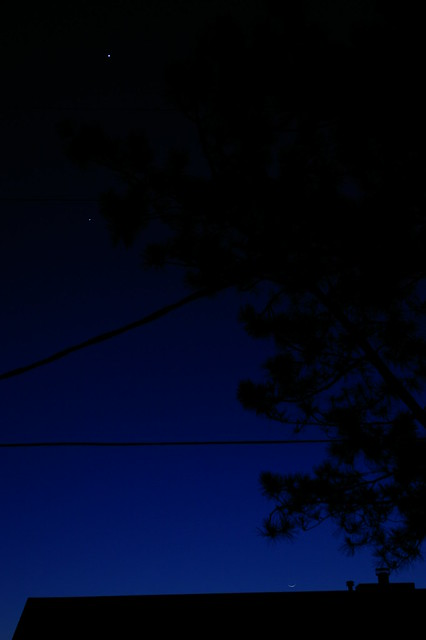 Venus, Jupiter and the CrescentMoon