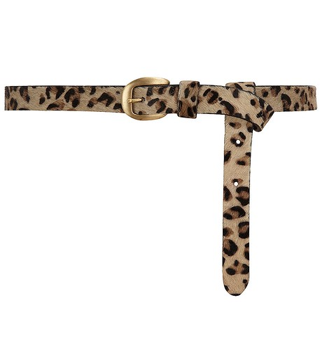 Leopard pony skin belt