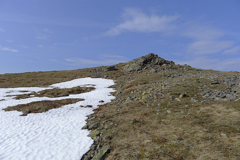 Snowpatch from Mullach Clach a' Bhlair