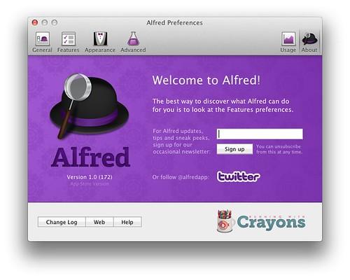Alfred screenshots