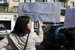 1er avril 2012 - Christine Neracoulis au marché de Soisy-sous-Montmorency