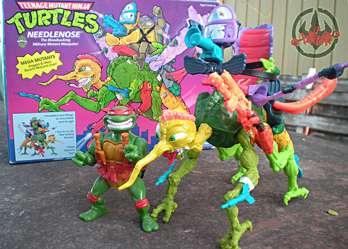 """MEGA MUTANTS"" TEENAGE MUTANT NINJA TURTLES :: NEEDLENOSE ii (( 1990 ))"