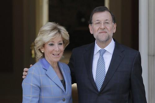 Esperanza Aguirre con Mariano Rajoy
