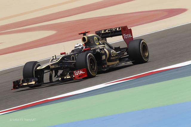 Kimi Raikkonen Lotus E20 F1 Bahrain 2012