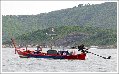 Fishing boat just offshore from Phuket