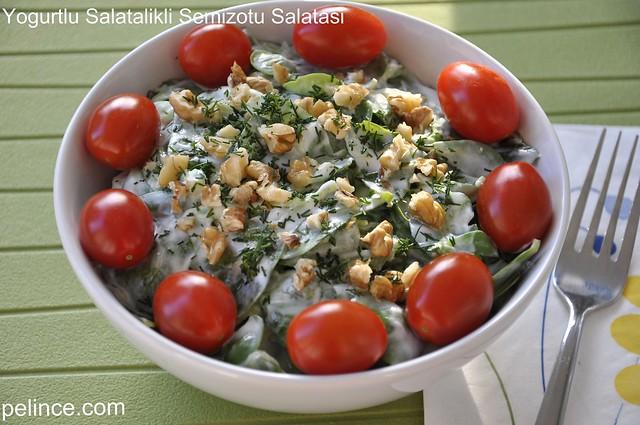 Yoğurtlu Salatalıklı Semizotu Salatası