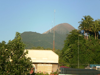 Bulusan Volcano as viewed in the Poblacion