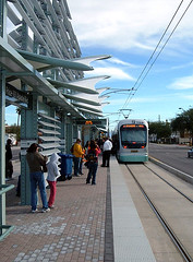 light rail transit, Phoenix (by: Ixnayonthetimmay, creative commons license)