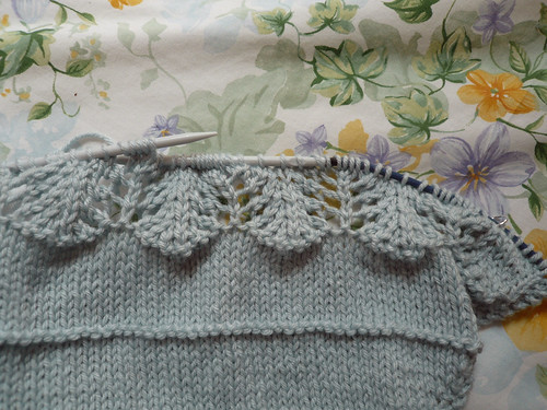 Amari - lace pattern so far