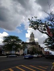 Clouds pass over Courthouse
