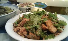 Julia's 甘香鱼片四角豆 salmon and wing…