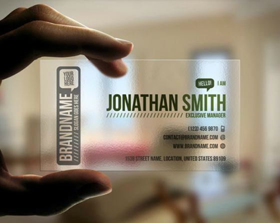 Transparent Business Cards Idea