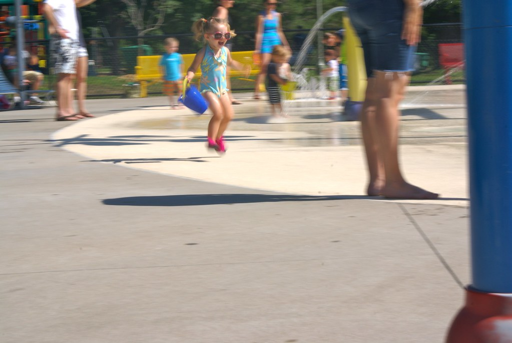 Lilah at the Splash Pad