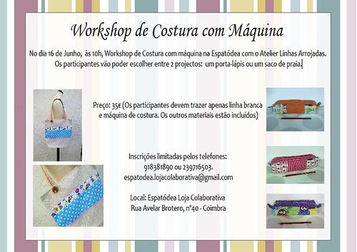 workshop saco de praia e porta lápis by ♥Linhas Arrojadas Atelier de costura♥Sonyaxana