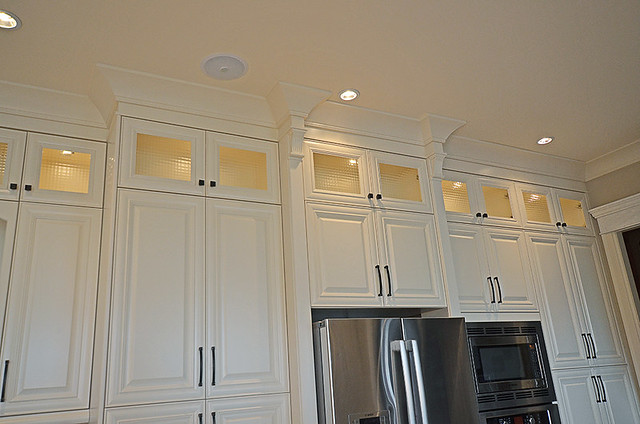 Kitchen cabinet crown moulding by nucasa flickr photo for Adding crown molding to existing kitchen cabinets