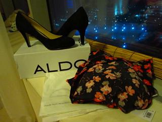 Aldo Black Poston and Black Floral Dress from Evans
