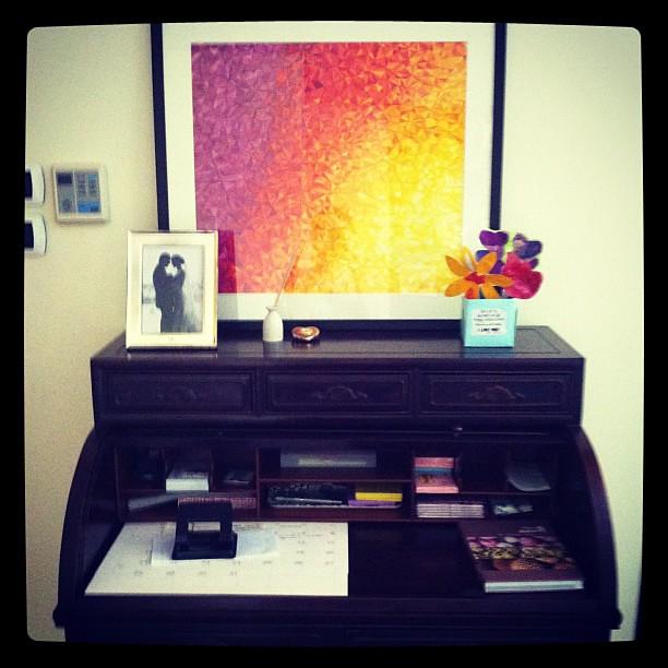 Anna Rufino's desk